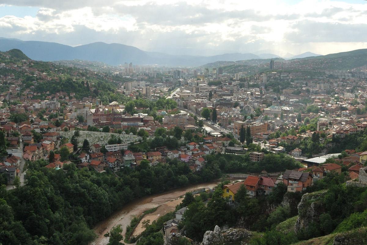 Sarajevo dalle rovine del forte