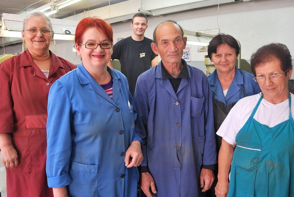 Mrs. Stevanoska with her staff
