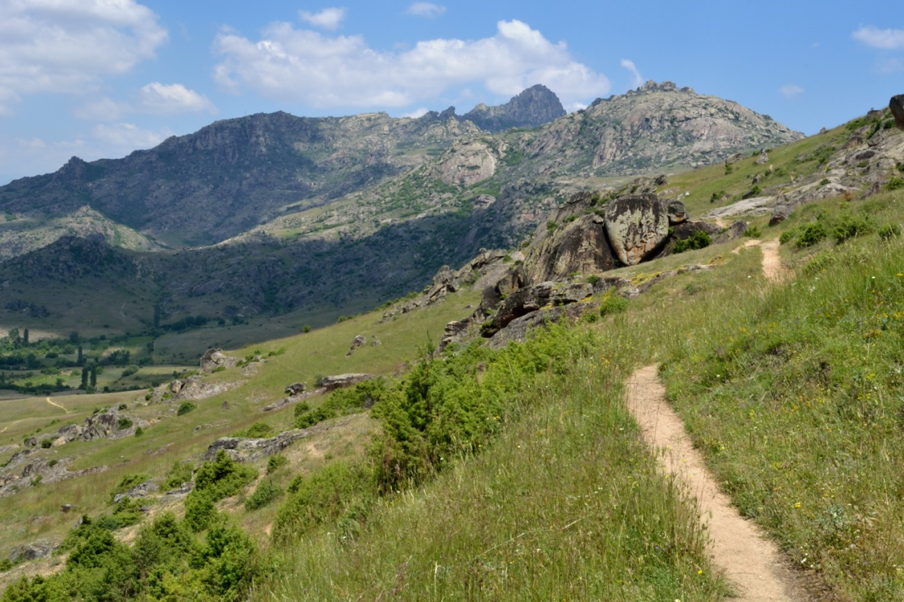 The ecological footprint on the Earth is like a footprint left on a path. This is the path to the Treskavec monastery.