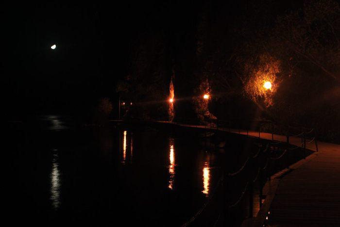 La passerella sul lago