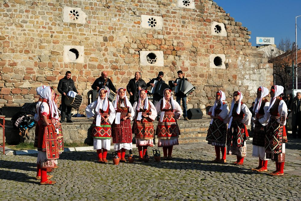 A traditional dance in Prilep