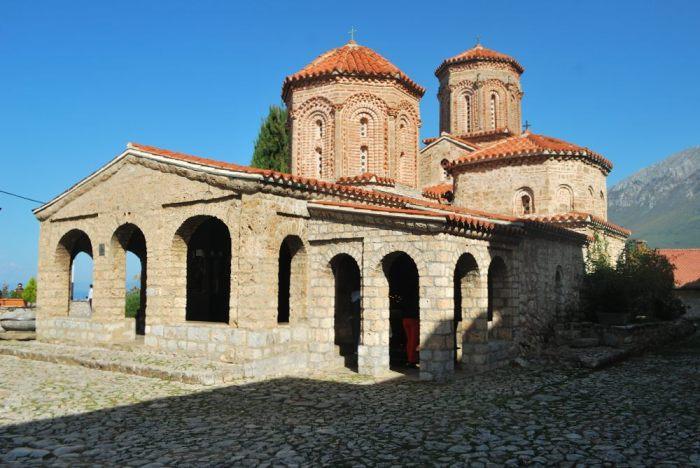 La chiesa del monastero di Sveti Naum, a circa 30 km a sud di Ohrid
