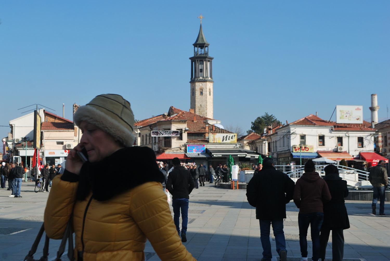 In the central square of Prilep
